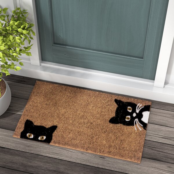 Zehr Peeping Cats Doormat by Red Barrel Studio