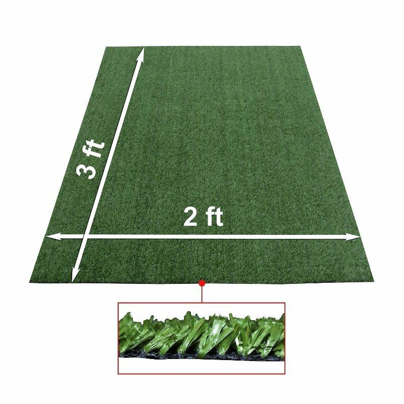 ALEKO Artificial Garden Grass IndoorOutdoor Green Area Rug