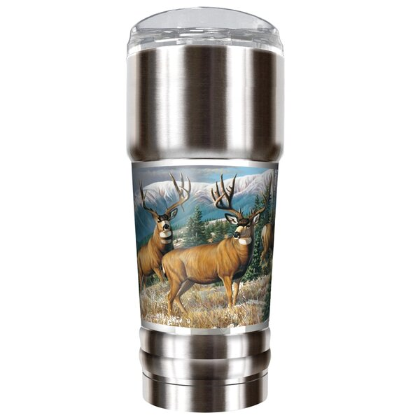 Male Deer Traditions 32 oz. Stainless Steel Travel Tumbler by Great American Products