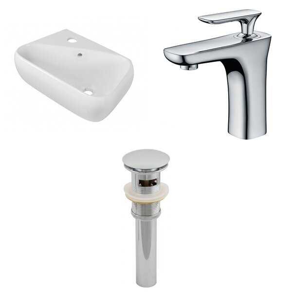 Ceramic Specialty Bathroom Sink with Faucet and Overflow