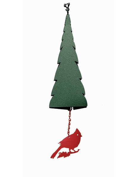 Wilderness Pointed Fir of the North Wind Bell® with Cardinal Windcatcher by North Country Wind Bells, Inc.