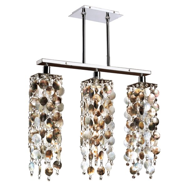 Charest Mother of Pearl 3-Light Kitchen Island Pendant by Highland Dunes