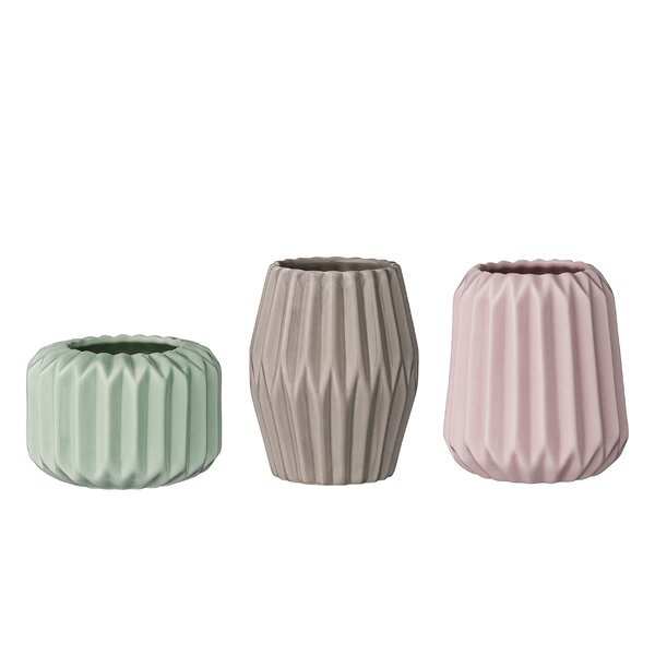 Padula 3 Piece Ceramic Votive/Tealight Set by George Oliver