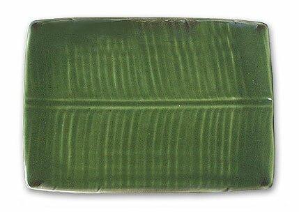 Banana Leaf Stoneware Ceramic Platter by Novica