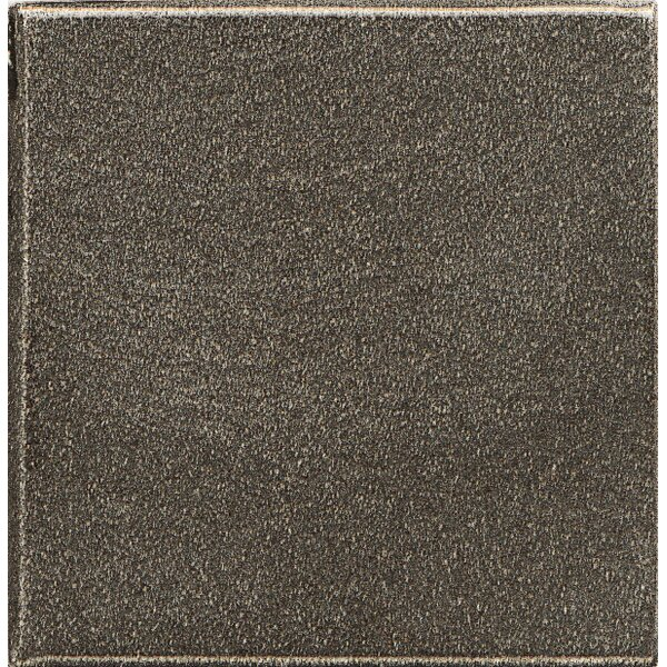 Ambiance Insert Pomenade 1 x 1 Resin Tile in Brushed Nickel by Bedrosians