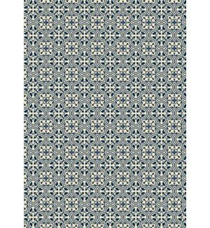 Kendrick Quad European Design Blue/Cream/Gray Indoor/Outdoor Area Rug by Charlton Home