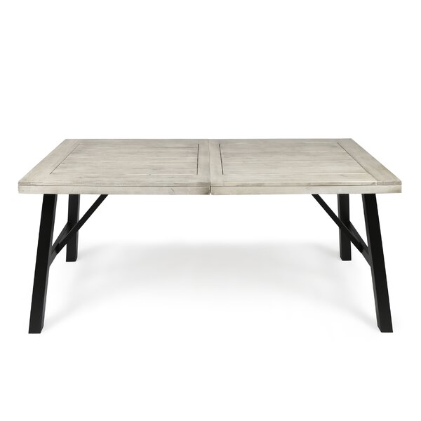 Menneken Wooden Dining Table by Gracie Oaks