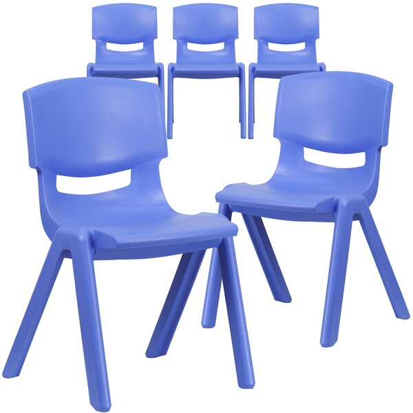 "15"" Plastic Classroom Chair (Set of 5) by Flash Furniture"