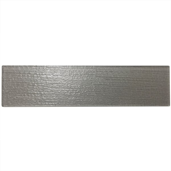 Grain Textured 3 x 12 Glass Subway Tile in Gray by Epoch Architectural Surfaces