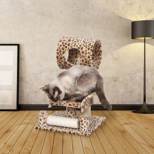 28 Mugsy Leopard Print Cat Tree by Tucker Murphy Pet