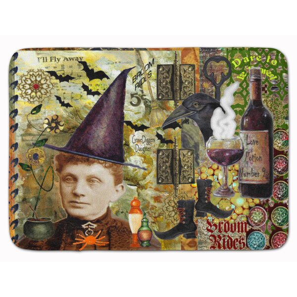 Testa Broom Rides and Spells Memory Foam Bath Rug by The Holiday Aisle
