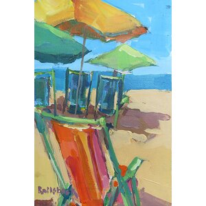 'Beach Days' Painting Print on Wrapped Canvas by Highland Dunes