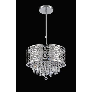 Reviews 3-Light Drum Chandelier By CWI Lighting