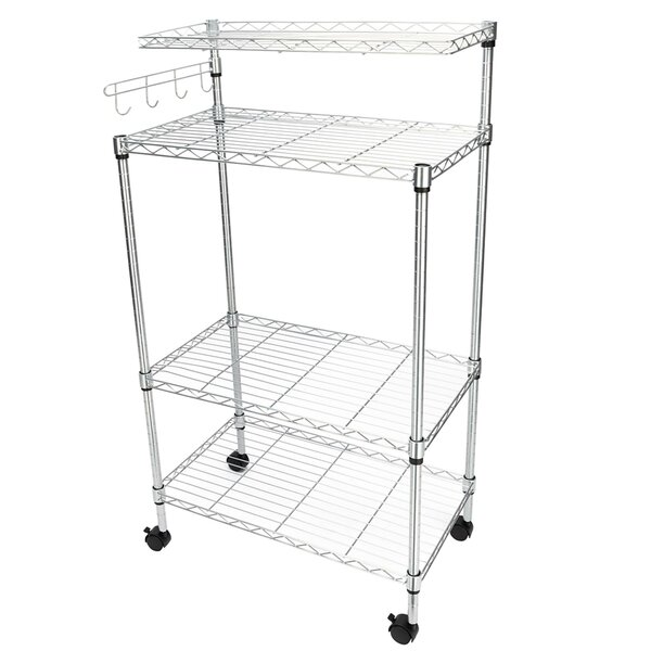 #2 Eldert 4 Tier Storage Rack Microwave Cart By Rebrilliant Great price