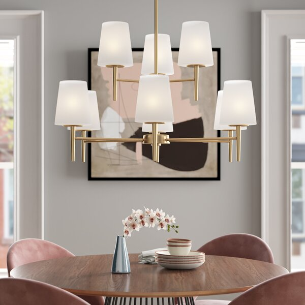 Demitri 9 - Light Shaded Tiered Chandelier by Foundstone Foundstone