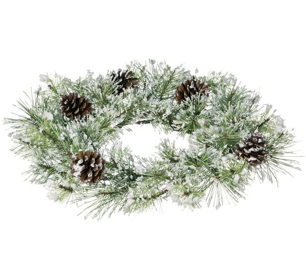 16.5 Snow Pine Wreath by The Holiday Aisle