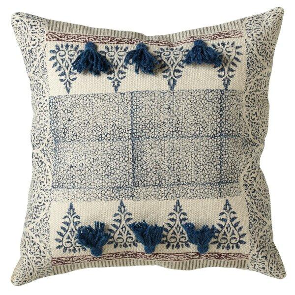 Buckner Block Print Cotton Throw Pillow by Bungalow Rose