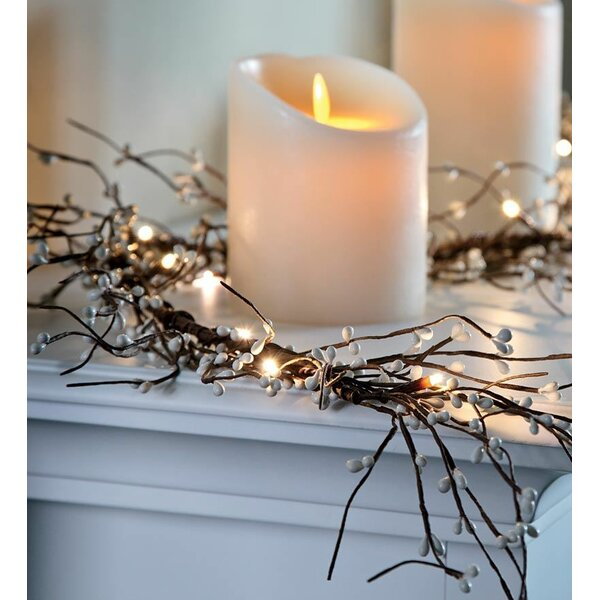Battery Operated Lighted Holiday Garland by Plow & Hearth