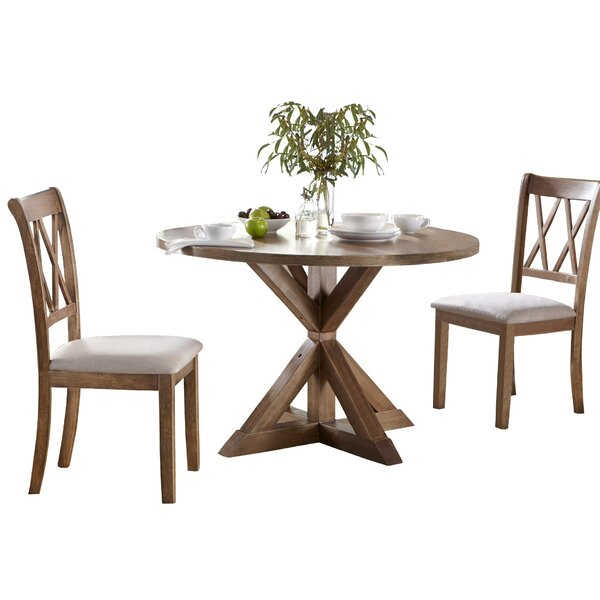 Skyline Pedestal 3 Piece Dining Set by Ophelia & Co.
