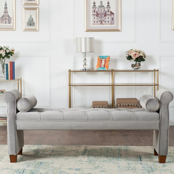 Belby Upholstered Bench by Everly Quinn