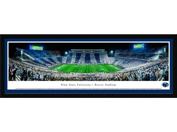 NCAA Penn State University - Stripe by Robert Pettit Framed Photographic Print by Blakeway Worldwide Panoramas, Inc