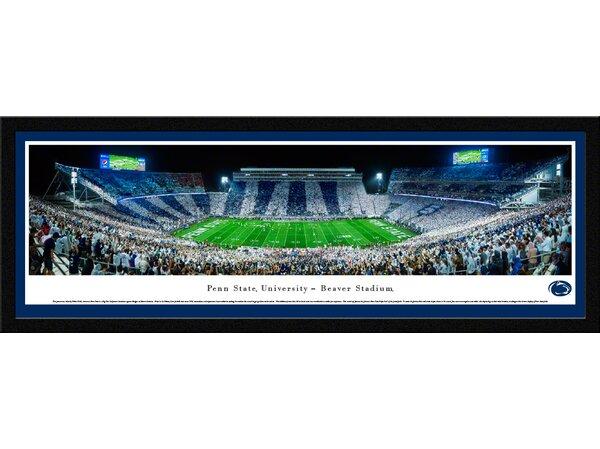 NCAA Penn State University - Stripe by Robert Pettit Framed Photographic Print by Blakeway Worldwide Panoramas, Inc