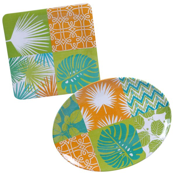 Paradise 2 Piece Melamine Platter Set by Certified International