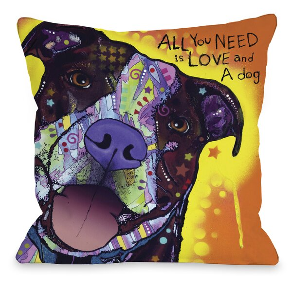 Doggy Décor Daisy Pit Throw Pillow by One Bella Casa