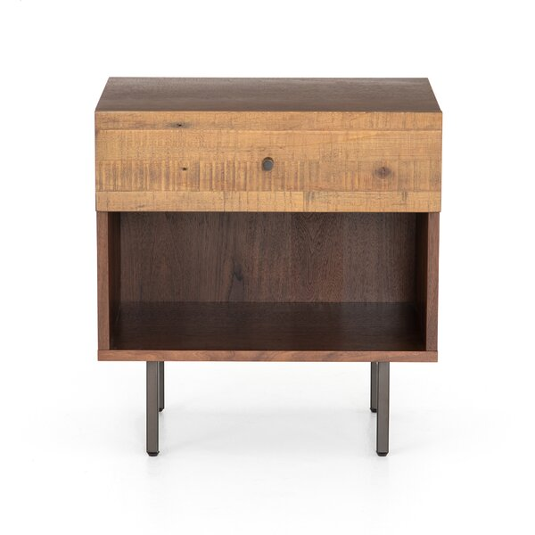 Sawicki 1 Drawer Nightstand by Union Rustic