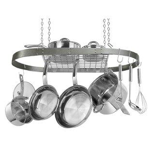 Enameled Oval Hanging Pot Rack by Range Kleen