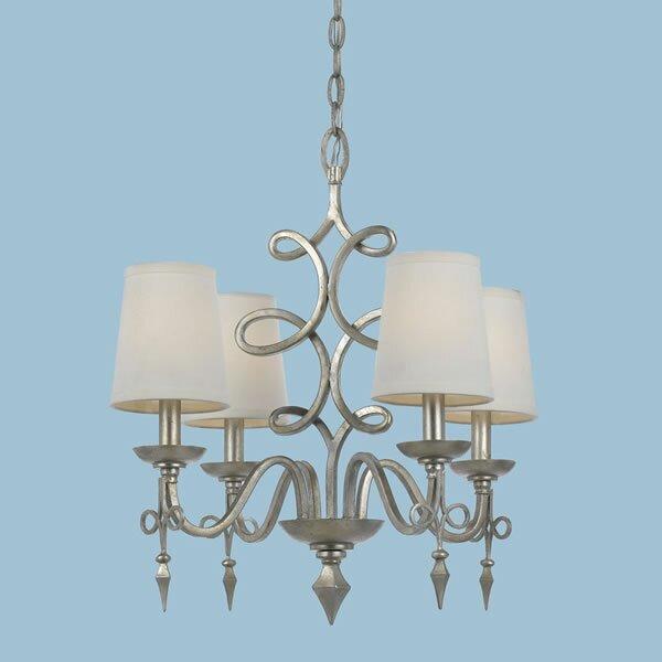 4-Light Shaded Classic / Traditional Chandelier by AF Lighting AF Lighting