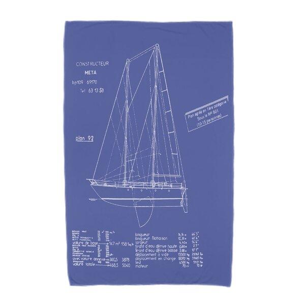 London Sail Plan Print Beach Towel by Breakwater Bay