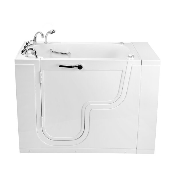 Transfer26 Wheelchair Accessible Acrylic Dual Digital Control 26 x 26 Walk-In Bathtub by Ella Walk In Baths