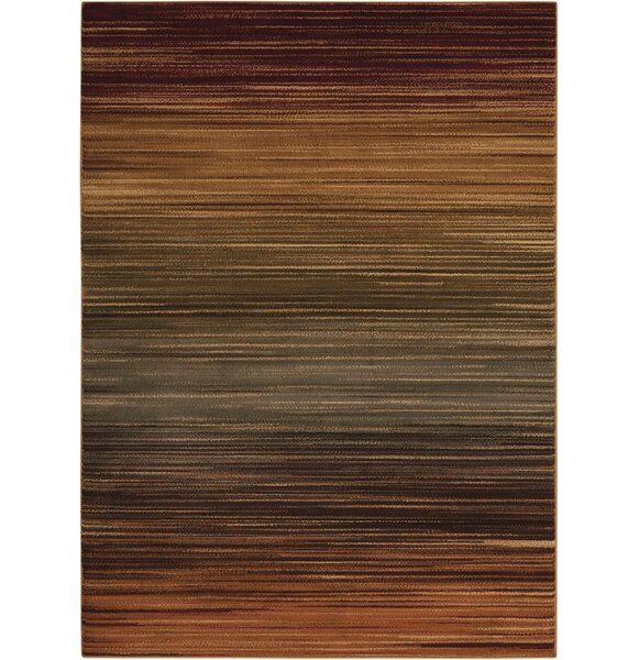 Margret Machine Woven Brown/Green/Burgundy Area Rug by Zipcode Design