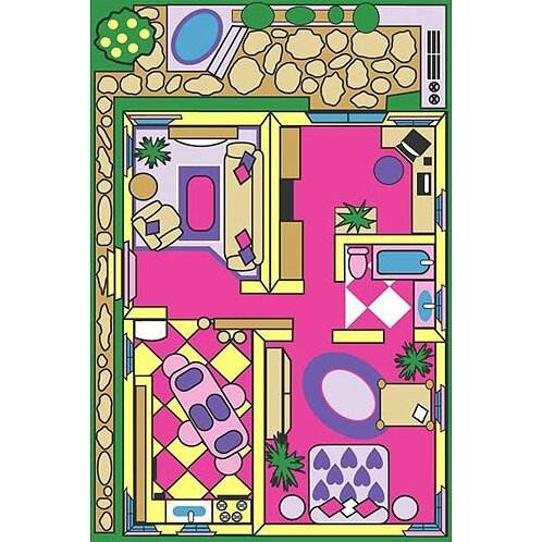 Fun Time Dollhouse Play Area Rug by Fun Rugs