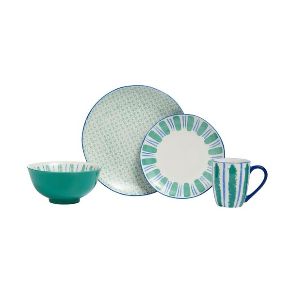 Blessing 16 Piece Dinnerware Set, Service for 4 (Set of 16) by Wrought Studio