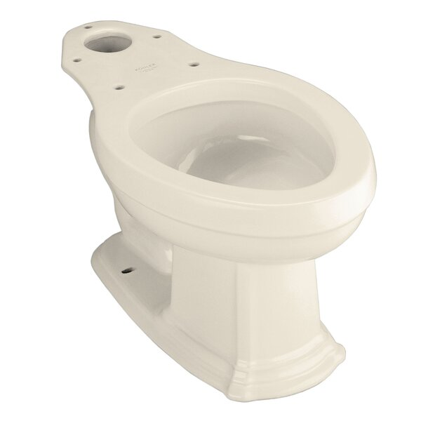 Portrait Elongated Toilet Bowl, Less Seat by Kohler