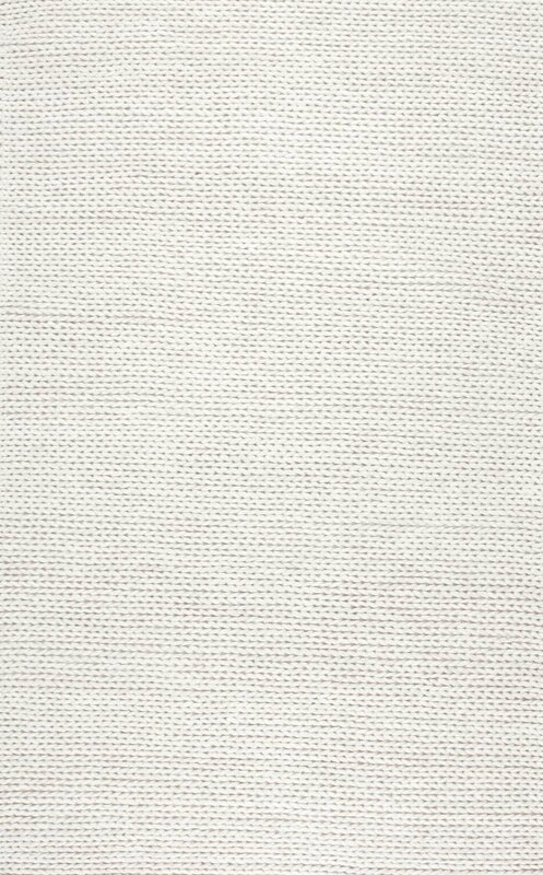 Woven Wool Off White Area Rug