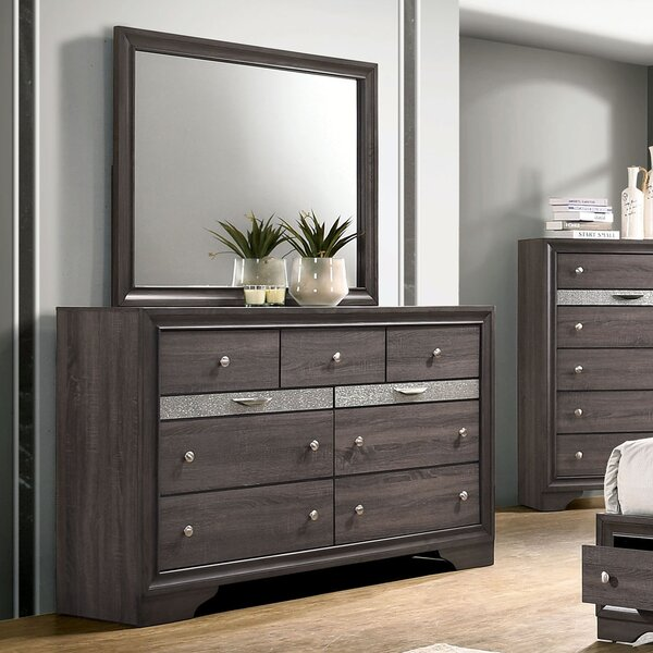 Kristina 9 Drawer Dresser with Mirror by House of Hampton