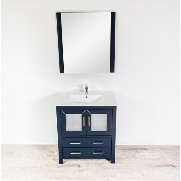Leena 29 Single Bathroom Vanity Set with Mirror