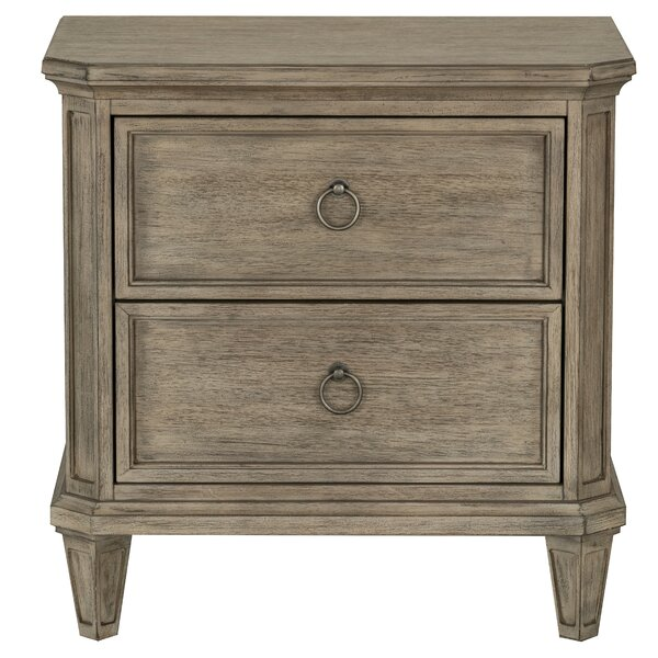 Zosia 2 Drawer Nightstand by One Allium Way