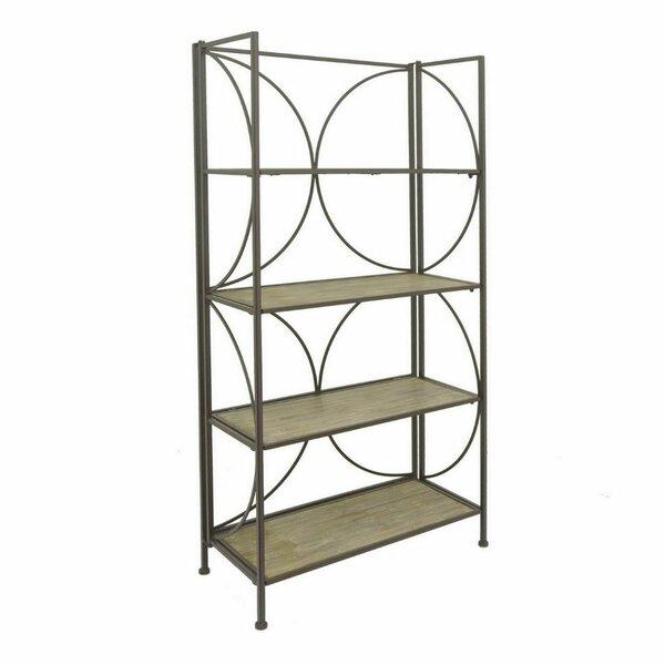 Postel Metal Wood Etagere Bookcase by Latitude Run