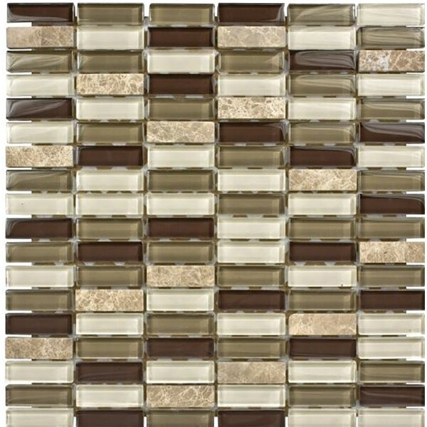 Santa Monica 0.625 x 2 Glass Mosaic Tile by Parvatile