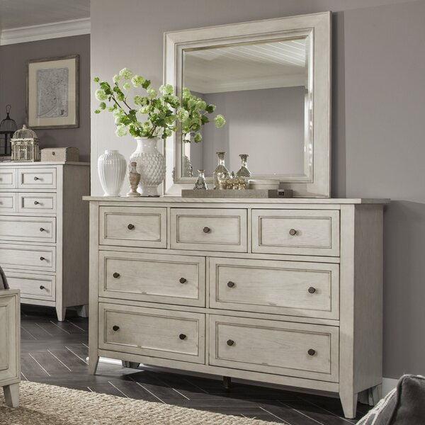 Stoughton 7 Drawer Dresser with Mirror by Rosecliff Heights Rosecliff Heights