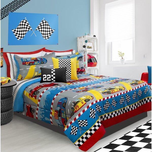 Holler Granprix Comforter Set by Zoomie Kids