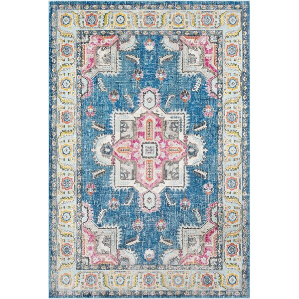 Tillamook Sky Blue/Bright Pink Area Rug by Bungalow Rose
