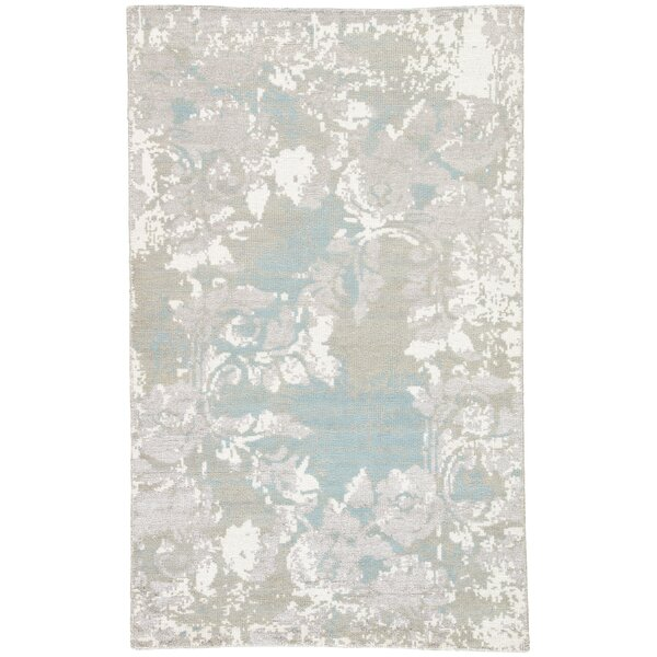 Alzira Hand Knotted Gray Area Rug by Williston Forge