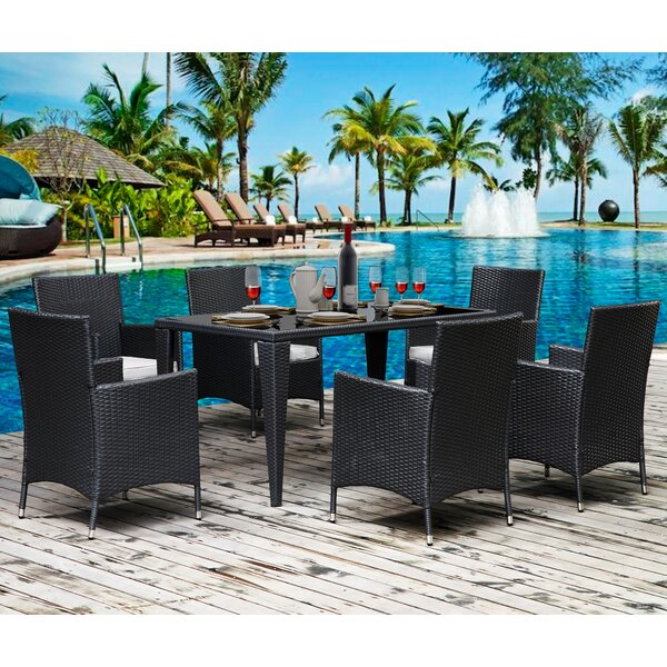 Stetson Outdoor 7 Piece Dining Set with Cushions