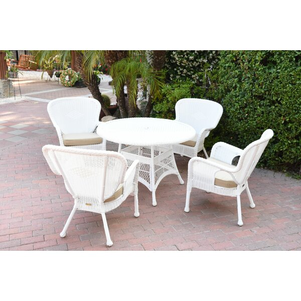 Damarion 5 Piece Dining Set with Cushions by Mistana