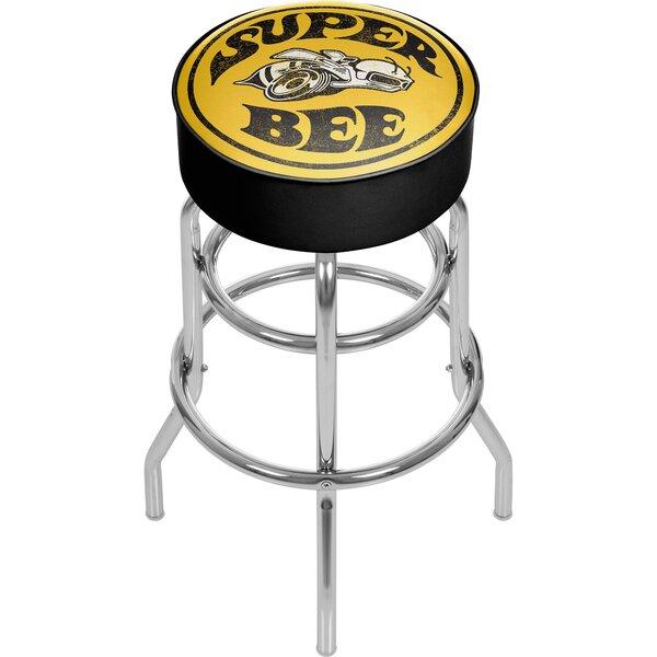 Dodge Super Bee 31 Swivel Bar Stool by Trademark Global